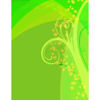 Green Floral Graphics Free Vector