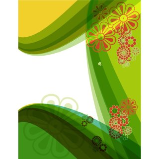 Green Floral Stock Graphics Free Vector