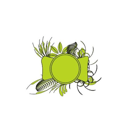 Green Flourish Stock Download Free Vector