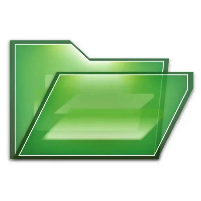 Green Folder Icon Free Vector