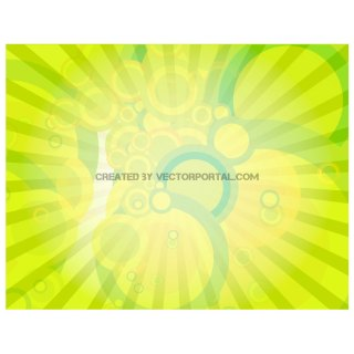 Green Illustration with Orbs Free Vector