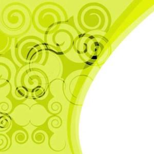 Green Retro Swirl Stock Free Vector