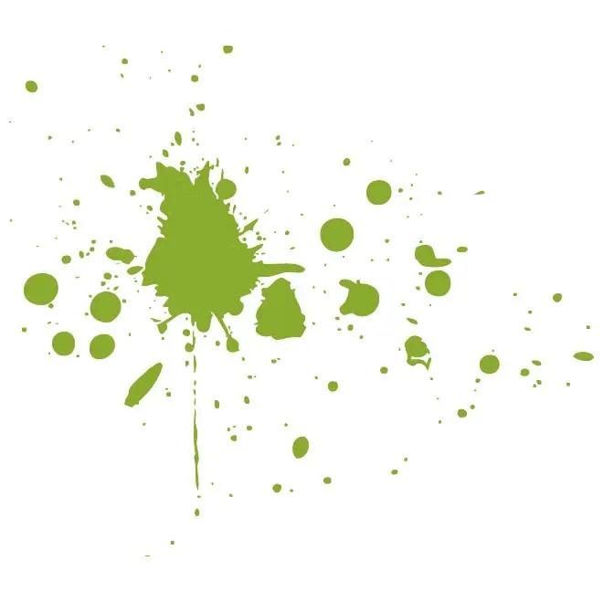 Green Splatter Element Free Vector