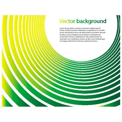 Green Stripes Abstract Design Free Vector