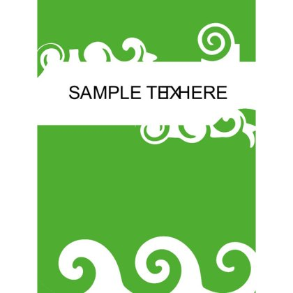 Green Swirl Background Free Vector