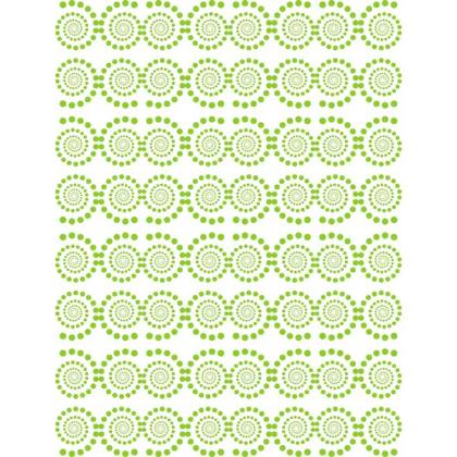 Green Swirled Dots Background Free Vector