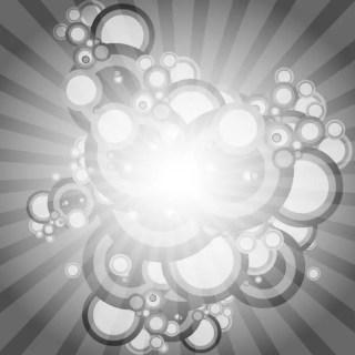 Grey Circles Graphics Free Vector