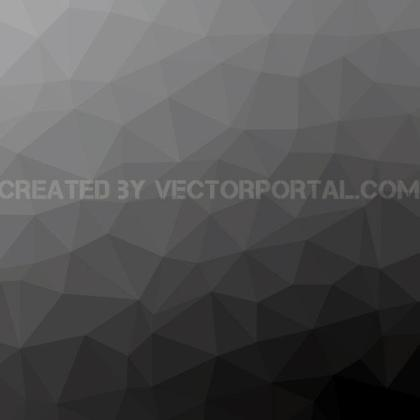 Grey Polygonal Background Free Vector