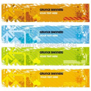 Grunge Banner Free Vector