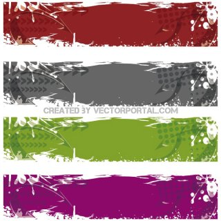 Grunge Banners Free Vector
