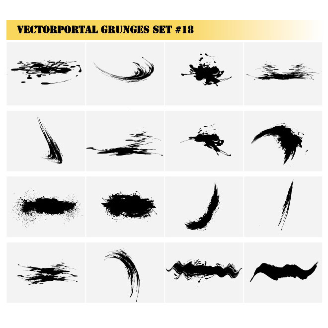 Grunge Designs Collection Free Vector