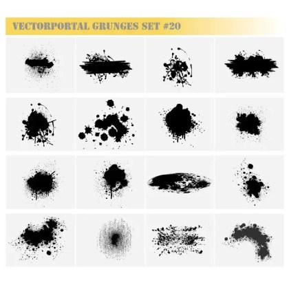 Grunge Free Set Free Vector