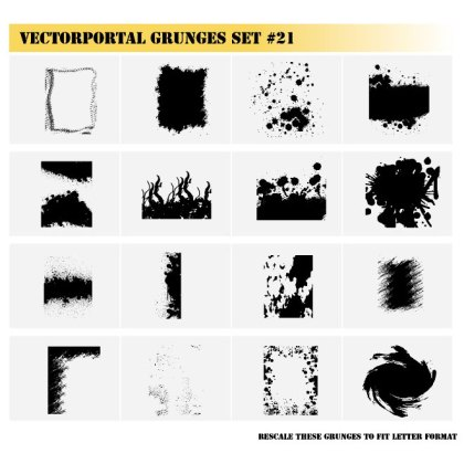 Grunge Images Set Free Vector