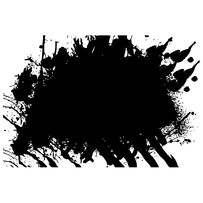 Grunge Ink Spill Free Vector