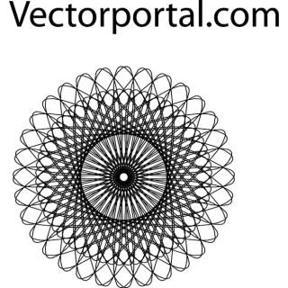 Guilloche Element Free Vector