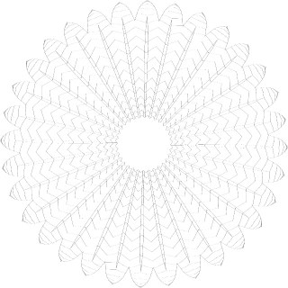 Guilloche Floral Shape Free Vector