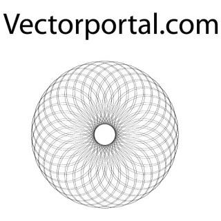 Guilloche Optical Shape Free Vector