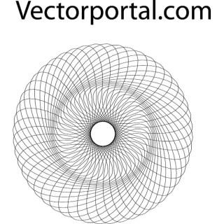 Guilloche Pattern Free Vector