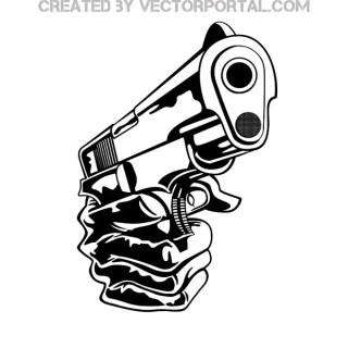 Gun in Hand Free Vector