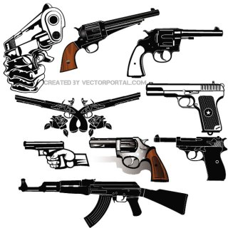 Guns Free Set Free Vector