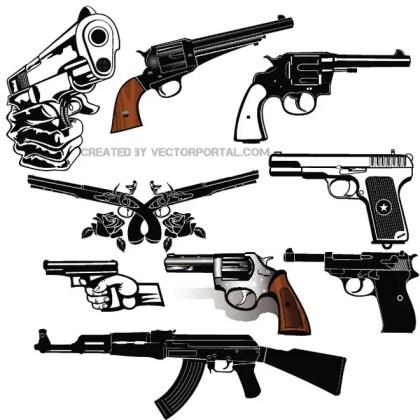 Guns Free Set Free Vector