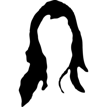 Hair Silhouette Image Free Vector