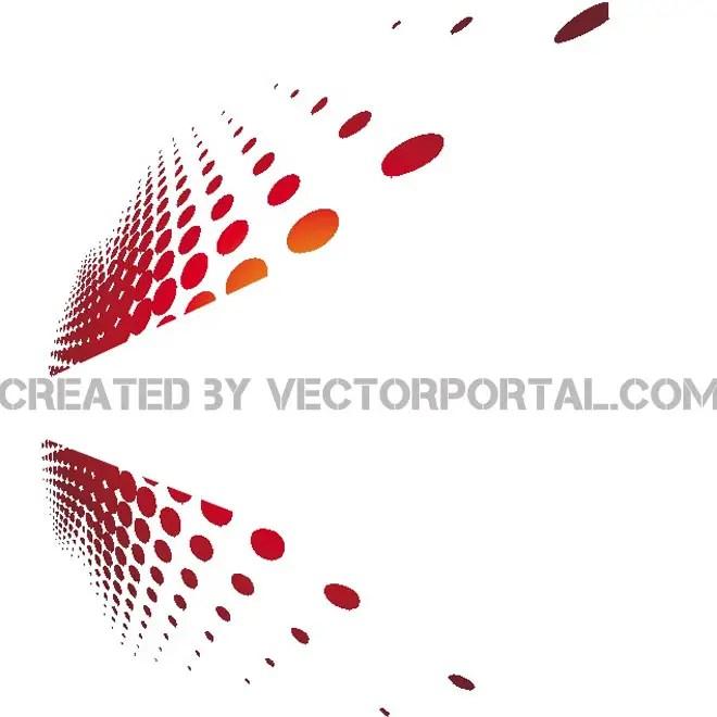 Halftone Design Stock Free Vector