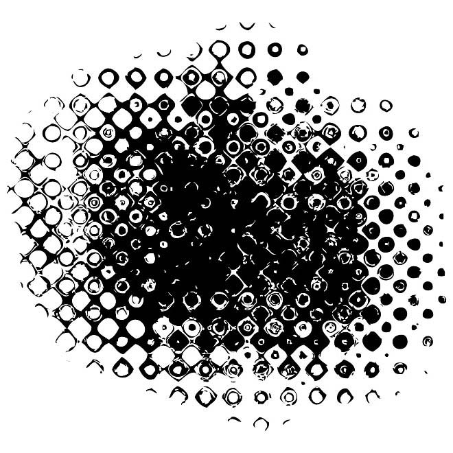 Halftone Grunge Image Free Vector