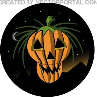 Halloween Carved Pumpkin Free Vector