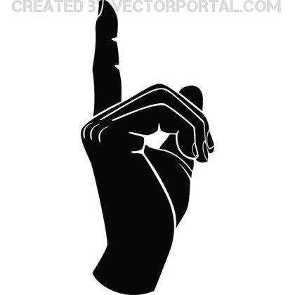 Hand Gesture Point Finger Free Vector