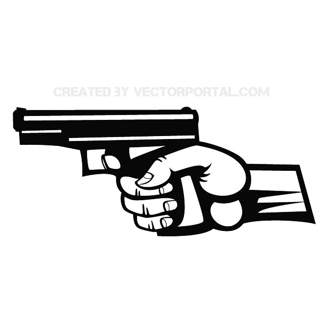 Hand Holding A Gun Image Free Vector