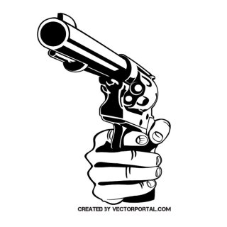 Hand with A Gun Free Vector