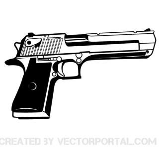 Handgun Graphics Free Vector
