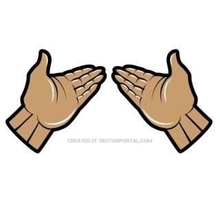 Hands Clip Art Free Vector