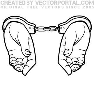 Hands in Handcuffs Graphics Free Vector