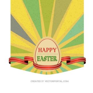 Happy Easter Greeting Card Free Vector