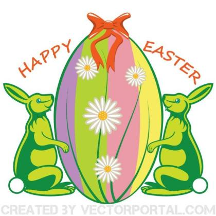 Happy Easter Illustration Free Vector