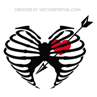 Heart in Love Illustration Free Vector