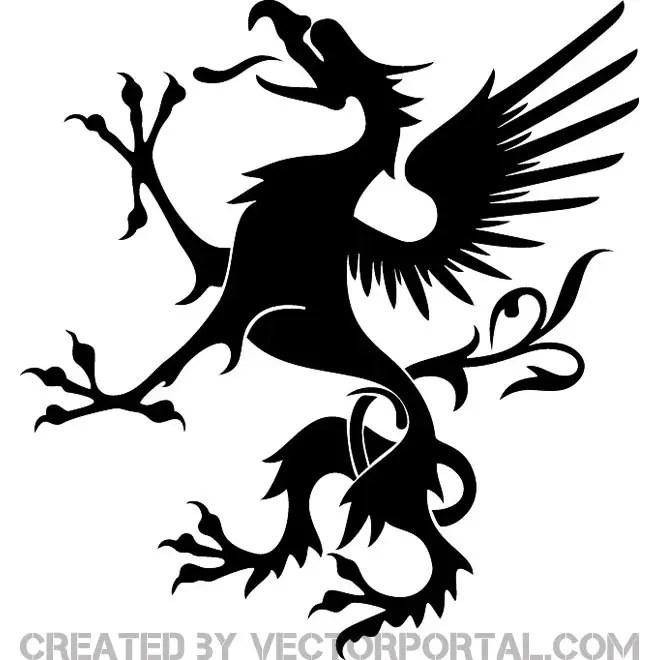 Heraldic Griffon Image Free Vector