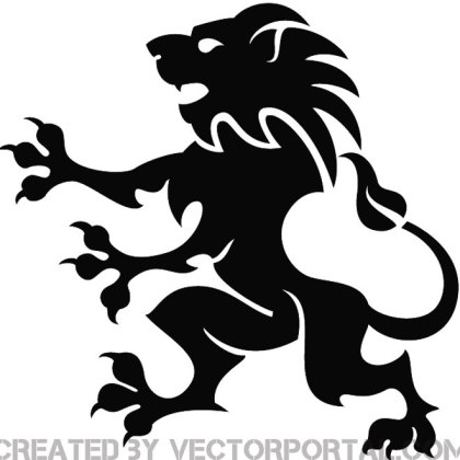 Heraldic Lion Graphics Free Vector