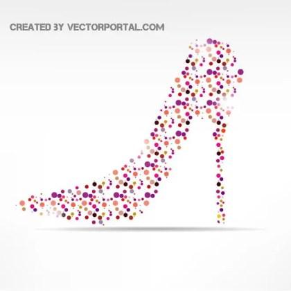 High-Heeled Shoe Image Free Vector