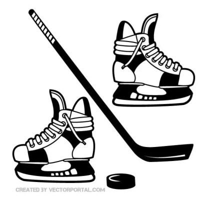 Hockey Gear Free Vector