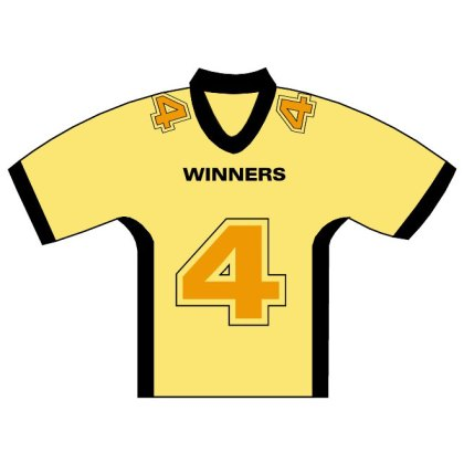 Hockey Jersey Number Four Free Vector