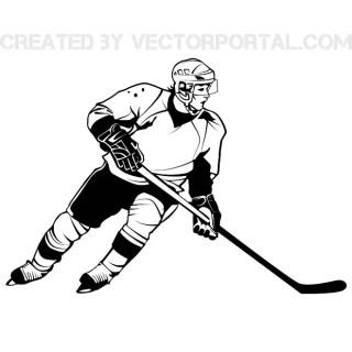 Hockey Player Graphics Free Vector