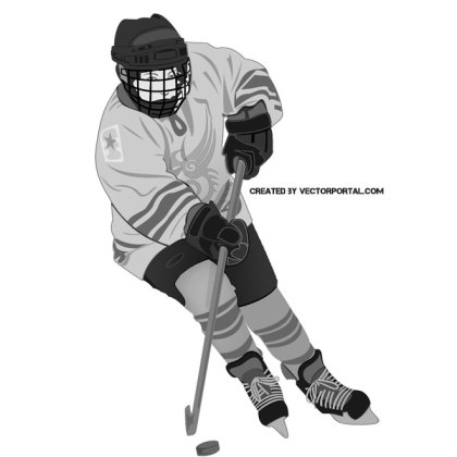 Hockey Player Image Free Vector