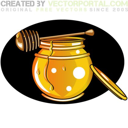 Honey Jar Graphics Free Vector