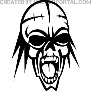 Horror Skull Graphics Free Vector