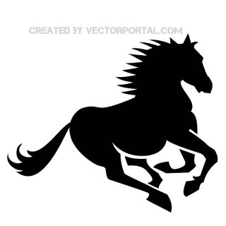 Horse Gallop Silhouette Free Vector
