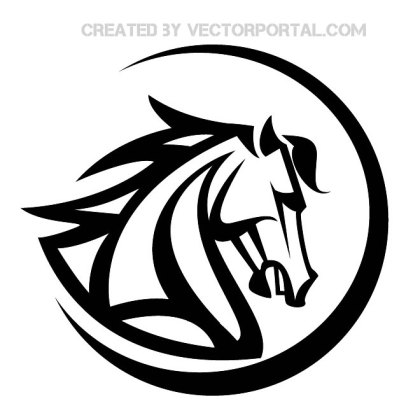 Horse Head Stock Graphics Free Vector