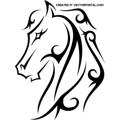 Horse Tattoo Clip Art Free Vector